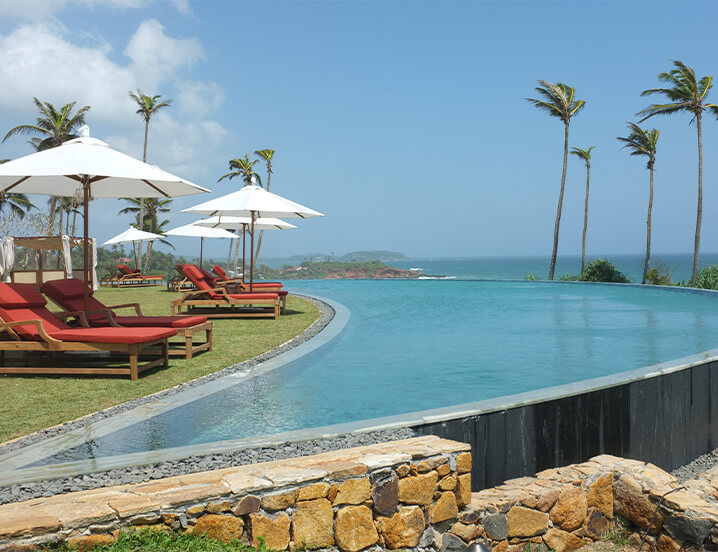 A luxury resort in Sri Lanka